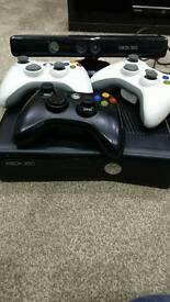 Xbox 360 Slim 16GB, Black, 16 games, 3 controllers