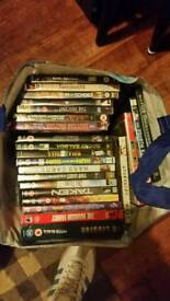 Roughly 150 dvds