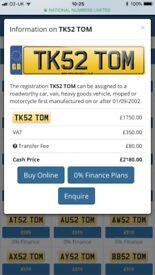 TK52 TOM - Private reg all fees paid
