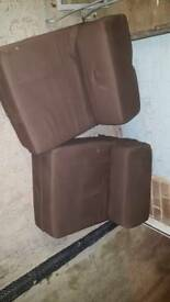 Single Brown foam chair beds