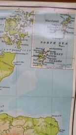 Vintage Schoolroom Map of Scotland