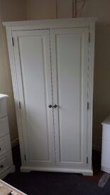 Ex display 2 doors white wardrobe