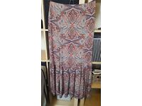 Gorgeous Paisley Print Floaty Maxi Skirt size 12 – never worn