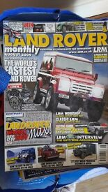 Bag of Land Rover monthly magazines(30+)