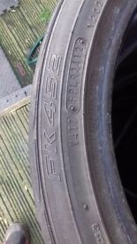 225/40/18 falken fk452 part worn tyres x4