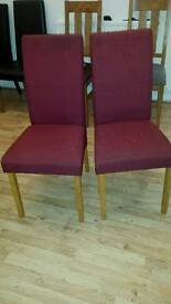 CHAIRS WORTH £200.00 TODAY OFFER £20