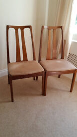 Solid Teak dining room chairs