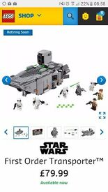 Lego 75103 transporter brand new