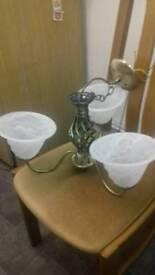 Lights brass glass