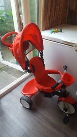 Q Play Comfort 4 in 1 Trike - Red