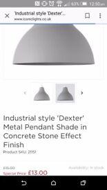 Dexter metal industrial light shades