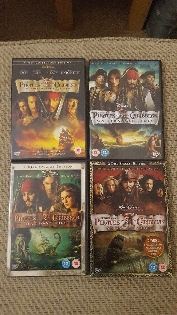 Pirates Of The Caribbean Dvd Set In Bloxham Oxfordshire Gumtree