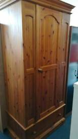 Pine 1 Door 1 Drawer Wardrobe