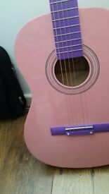 LOVELY PINK GUITAR MINT CONDITION BARGAIN