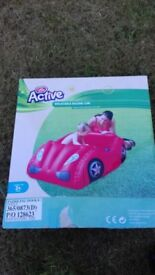 INFLATABLE RED CAR FOR TODDLERS