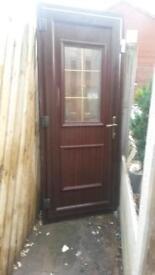 PVC door with key an step