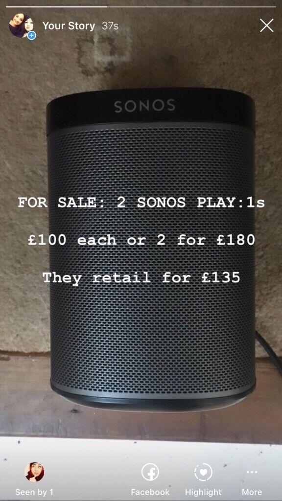 2 x SONOS PLAY:1 speakers for sale  | in Blantyre, Glasgow | Gumtree