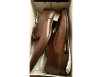 Men's Leather Shoes Size 10 (Chocolate)