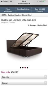 Black Double Ottoman Bed