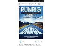 2x Runrig tickets - Friday night