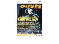 """Vintage Liam Gallagher oasis knebworth poster size 60"""" 40"""""""