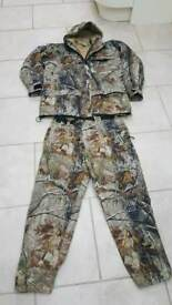 Tf gear camo carp fishing suit size medium