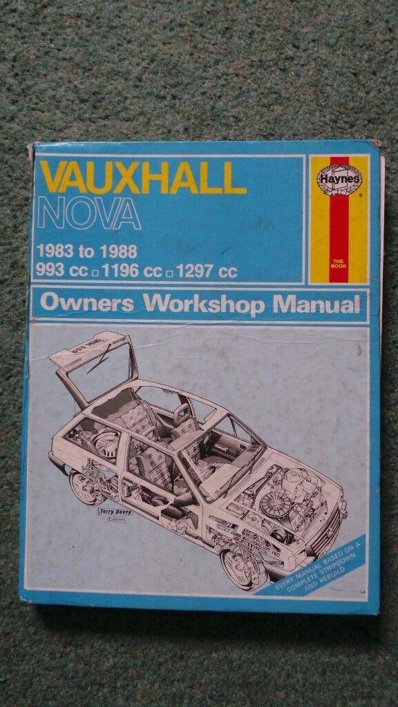 VAUXHALL NOVA HAYNES MANUAL 1983-88