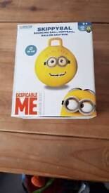 Despicable me sit on bouncing ball bnib