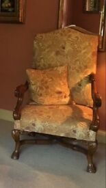 Edwardian Style Throne Chair Pair