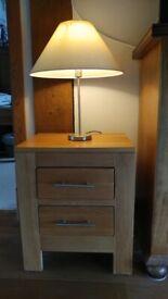 2 Oak bedside tables