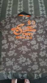 Men's XXL Superdry Honolulu t-shirt grey orange