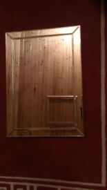 MIRROR. Modern design. Single Bevelled Edge Venetian Wall Mirror. Frameless.