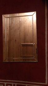 MIRROR. Modern design. Single Bevelled Edge Venetian Wall Mirror. Frameless.