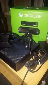 Xbox One console 1 controller all wires headset and charging dock boxed. Quick Sale!!
