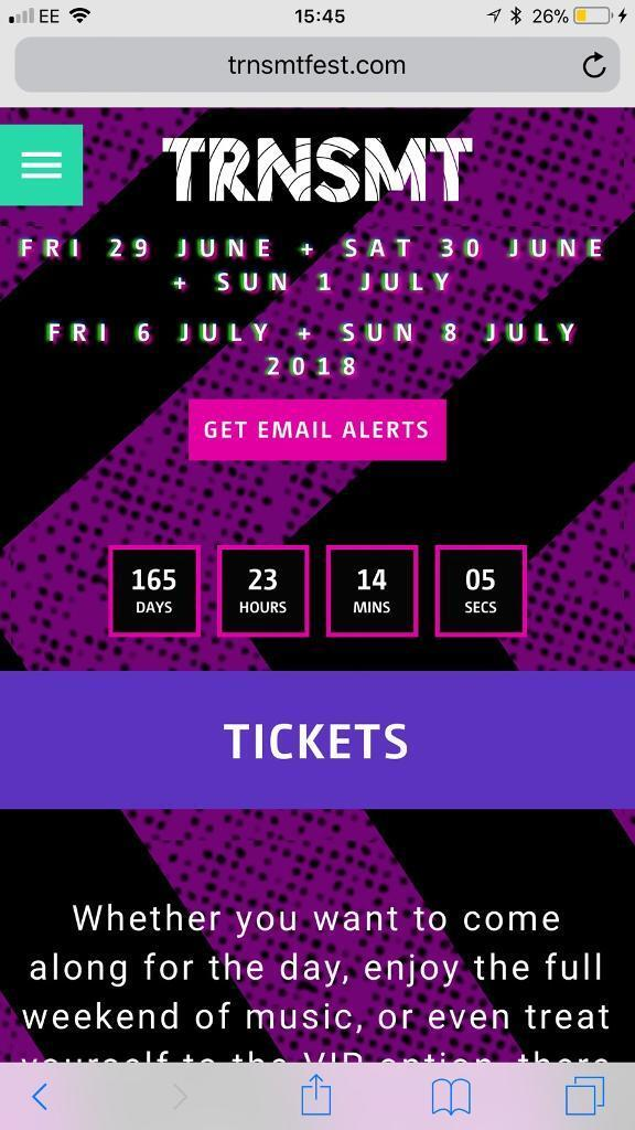 Trnsmt 5 day ticket x2