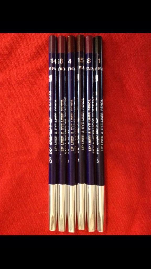 Eye & Lip liner multi 6 waterproof pencils