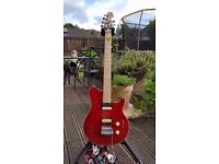 Sterling by Musicman SUB AX3 Electric Guitar - Translucent Red. Shop Condition