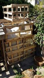 Crates/wooden boxes size 3x2x2