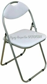 PADDED FOLDING CHAIRS & 6FT FOLDING TABLES Black or White