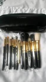12 piece makeup brush set and case