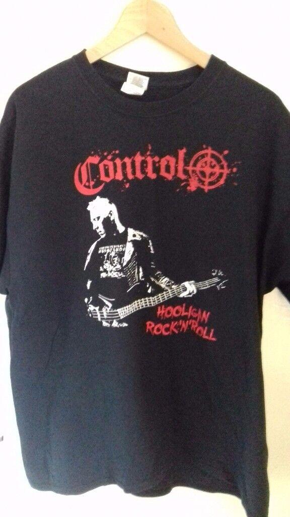CONTROL PUNK BAND HOOLIGAN ROCK N ROLL T SHIRT SIZE XL