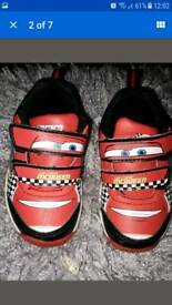 Lighting McQueen light up racing trainers