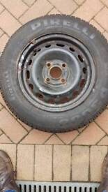 Full sized wheel and tyre 155x80x13