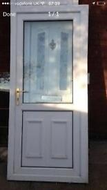 Back door with key