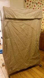 Habitat Cloth Covered Hanging Rail (flatpack). Good condition. W:109 cm H:165cm D:49cm
