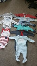 Bundle of baby boy clothes. Newborn, First Size, Up to 1 month. All for £20 no stains or marks