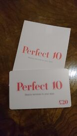£20 Perfect 10 Mobile Beauty Gift Card