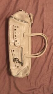 Baby phat white leather purse