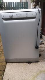 Hotpoint Aquarius dishwasher FDL570 Silvergrey with economy cycle.