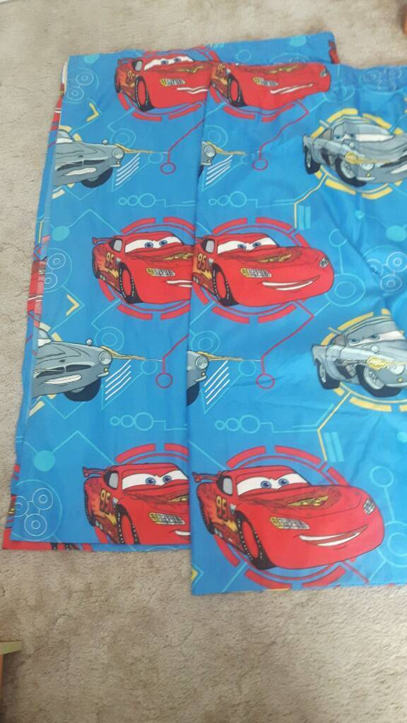 Disney Cars Lightning McQueen Curtains 64in X 54in Drop